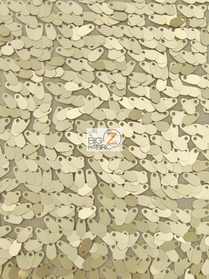 Matte Gold Drop Sequins Fabric