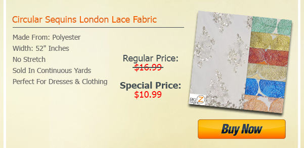 Circular Sequins London Lace Fabric Sale