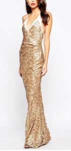 Gold Curly Sequins Dress