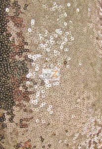 Mini Disc Sequin Nylon Mesh Fabric Dark Gold