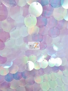 Big Dot Sequin Hologram Mesh Fabric Lilac On Lilac Mesh