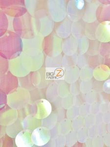 Big Dot Sequin Hologram Mesh Fabric Lilac On Pink Mesh