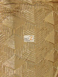 Gold Cosmic Geometric Sequins Fabric
