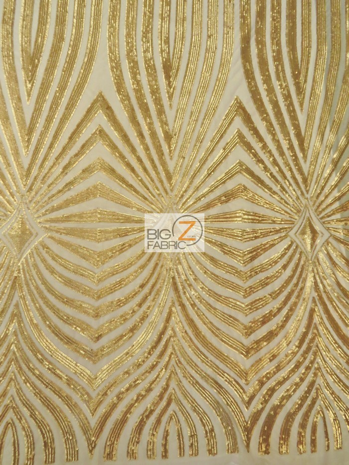 Goldeneye Diamond Sequins Fabric Gold