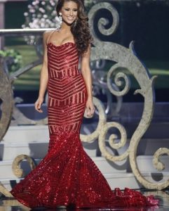 Geometric Sequins Pageant Contest Dress