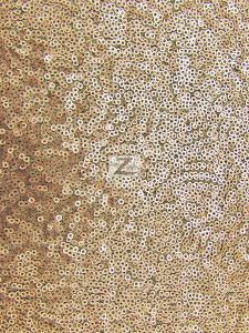 Mini Disc Sequin Nylon Mesh Fabric Matte Beige