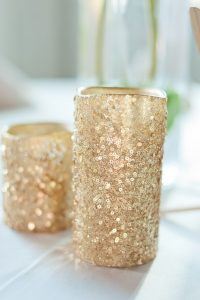 Sequins Wedding Candles