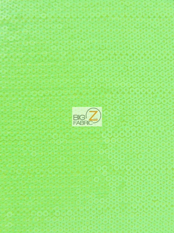 Lime Micro Disc Paillettes Sequin Spandex Fabric