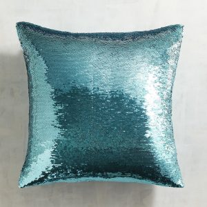 Teal Mermaid Pillow