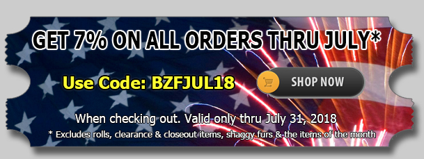 July 2018 Sequins Fabric Discount