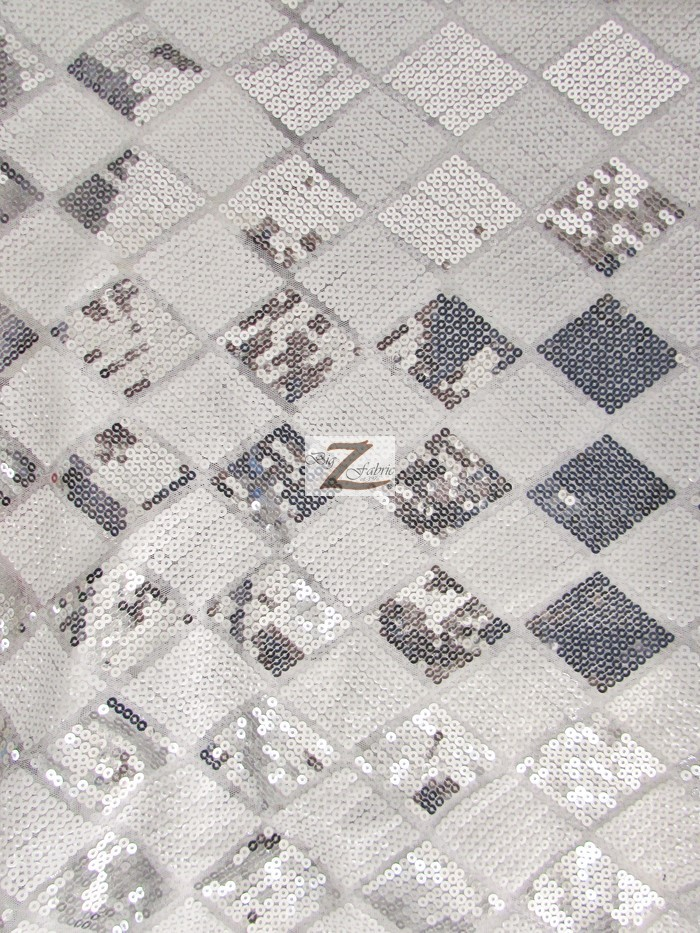 diamond checkered sequins