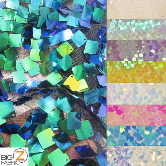 holographic sequins, sequins fabric, square sequins