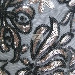2 Tone Blossom Sequin Fabric