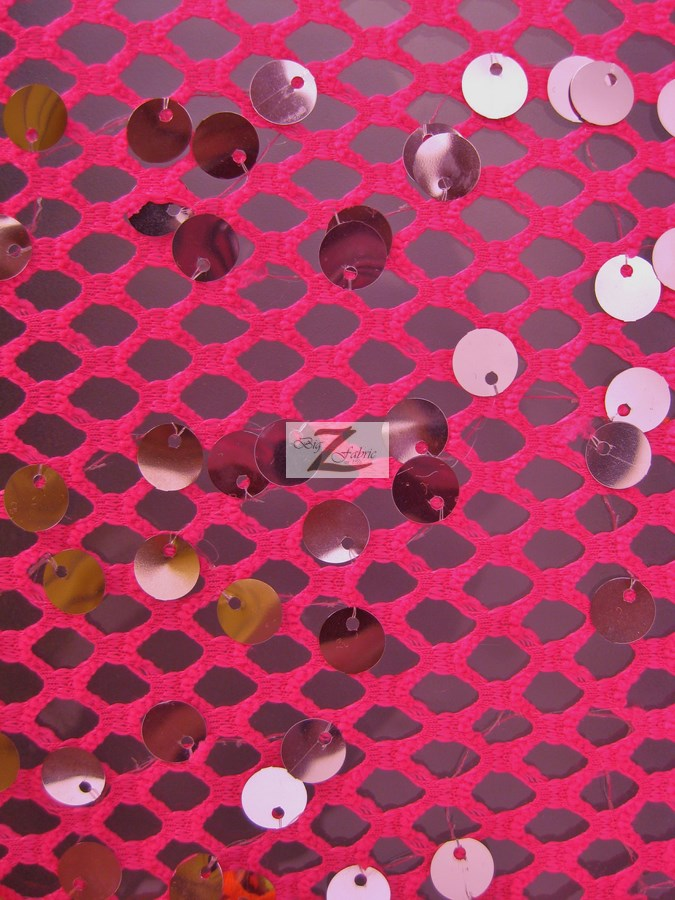 Ariel Fishnet Nylon Sequin Fabric Sequins Fabric